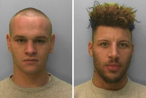 Tommy Howlett (left) and Bradley Allen were convicted of causing grievous bodily harm in their attack on Wayne Heys. Picture: Sussex Police