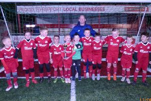 Worthing Dynamos Under 9 Red Team. Back Row: Ricky Neenan (Coach), Silver Stephens, Harry Mason, Ben Salisbury, Alex Wright, Taylor West, Kevin OReilly (Manager) Front Row: Theo Crowley, Jacob Edwards, Vinnie Minter (c), Kian OReilly (GK), Luke Neenan, Todd Geal