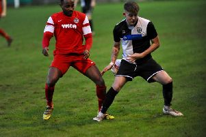 Horsham YMCA's Tony Nwachukwu in action earlier in the season. Picture by Stephen Goodger