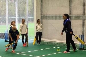 Free girls cricket hubs as part of the Aldridge Foundation girls project begin next week. Picture courtesy of Sussex Cricket