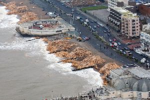 Thousands of tons of timber washed up on Worthing's beaches in January, 2008