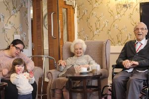 Jo Jingles at Guild Care's Caer Gwent nursing home