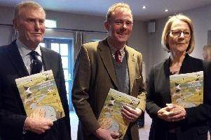 Arundel and South Downs MP Nick Herbert, centre, with Arun Valley Vision Group co-chairmen Dr John Godfrey and Gill Farquharson