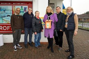 Bhadresh Patel from Fircroft News,  John and Sue Wellfare from Recycling in Lancing, Councillor Joss Loader, Councillors Carson and Carol Albury. '''Photo: Martin Bloomfield / Seaside Creative Ltd