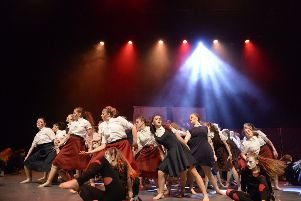 The Eastbourne Academy perform at Global Rock Challenge. By Nick Scott Photography SUS-190228-102244001