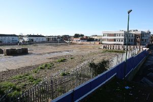 The now-demolished Teville Gate site in Worthing. Photo by Derek Martin Photography