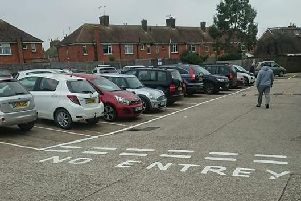 The road markings in the car park at Cricketers Parade, Broadwater