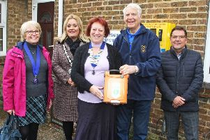Councillor Gloria Eveleigh, councillor Joss Loader, Lion's president Janette Ward, Keith Dollemore and Tery Ayres
