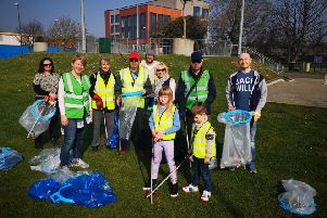 Residents taking part in the Spring Clean
