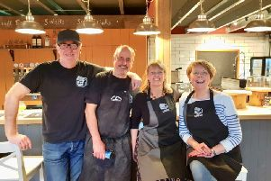 The Brewhouse Team: Chris Rendle, Stuart Walker, Alice Rendle and Samantha Walker SUS-190504-171603001