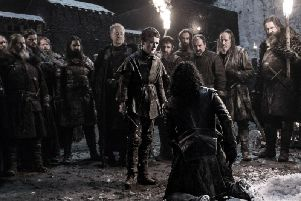 Brenock O'Connor from Worthing, centre, was involved at a pivotal moment in Game of Thrones. Picture: HBO