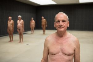 Sussex naturists during a trip to an art gallery. 'Picture by David Owens Photography SUS-190523-155625001