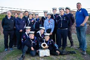 A team of 29 Scouts moved the signal cannon from the Scout hut to take up its place at Shoreham Fort
