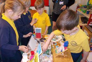 Cathy Watts, author of the Sandies series of books, visited Upper Beeding Primary School
