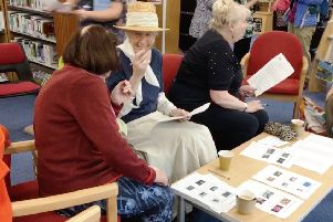 Party guests at Shoreham Library for the 50th birthday party