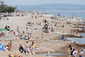 Worthing Beach on the weekend of June 30/July 1 SUS-180207-115248001