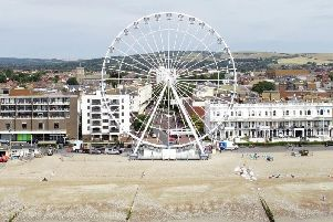 Worthing Wheel as seen from the air