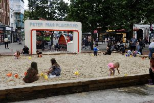 The sandpit in Worthing town centre