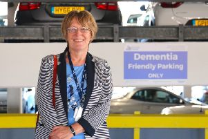 Buckingham Road multi-storey car park in Worthing has become the first in the South East to feature dementia friendly car parking spaces. Councillor Val Turner was at the unveiling.