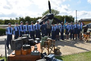 Shoreham Air Training Corps cadets and staff were representing Sussex at the annual Battle of Britain Memorial Day parade and service