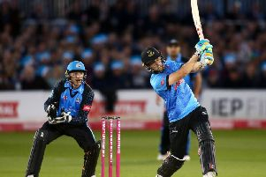 Phil Salt hits out during his 40-ball 72 / Picture: Getty Images