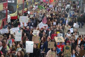 Brighton Youth Climate Strike earlier this year