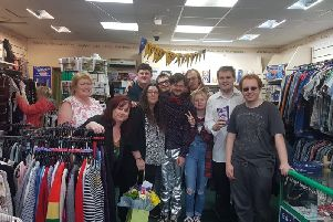 Staff and volunteers at the new Mind store in Lancing SUS-190910-084716001