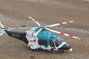 Air ambulance in Marine Parade, Worthing. Pic: Juliette Copland