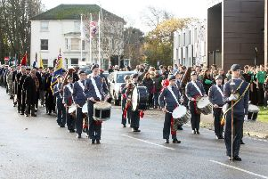 The annual Remembrance Sunday parade in Shoreham. Picture: Derek Martin DM17111000a
