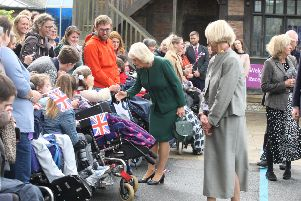 The Duchess of Cornwall at the Chailey Heritage Foundation. Photograph: Derek Martin