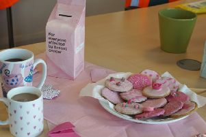 Staff at Shoreham Port held a bake sale and donned pink items for the day. The mony they raised was match funded by the port authority.