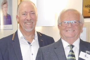 Michael Harris and Victor Heal of Sussex Masonic Charities Foundation