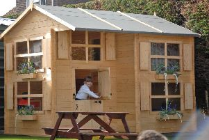 The new playhouse at Shoreham College's Little Lions Nursery