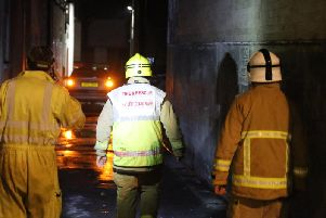 Fire crews were called after a large power outage was experienced in Worthing last night