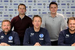 Brighton and Hove Albion have extended the contract of Graham Potter and his managerial team