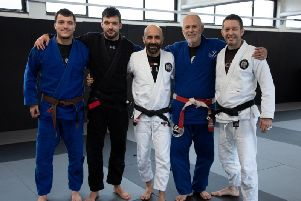 Mauricio Gomes with BJJ Academy instructors