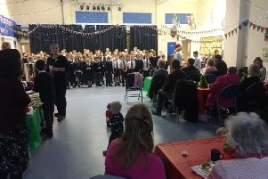 The St Nic's Singers entertained the guests at the Merry Mince Pies event SUS-181231-123850003