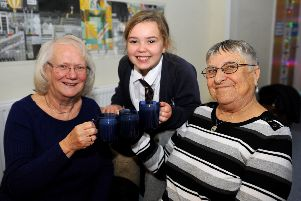 St Nicolas and St Mary CE Primary School holding a cake and tea event for the community hosted by parents and pupils. Pic Steve Robards SR17121901 SUS-191217-155441001