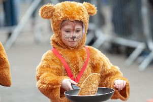 The Littlehamapton Town Council Pancake Olympics. Picture: Scott Ramsey