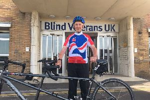 Peter Burbery, 84, will skydive to raise money for Blind Veterans UK who have helped him to live independently and continue enjoying his hobbies, such as cycling
