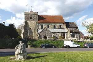 The Parish Church of St Andrew and St Cuthman, Steyning SUS-170427-162408001