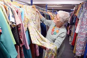 Sue O'Donoghue in the wardrobe department.