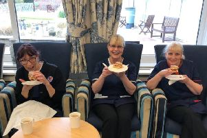 Princess Marina House staff pictured on March 18, before the respite centre closed, when guests and staff were treated to afternoon tea, courtesy of businessman Mark Rockliffe and Wellies Tea Room in Chichester BGuDiLpmk3XGAmJVkqx1