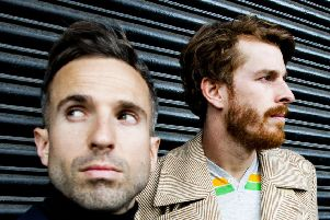 Irwin Sparkes and Alphonso Sharland who together with Martin Skarendahl (not pictured) will be headlining The Lakes Festival as The Hoosiers.