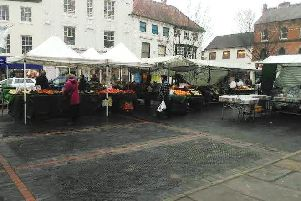 Louth's Market Place last Friday lunchtime.