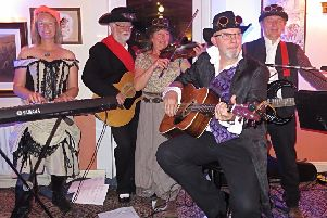 Captain Caleb's Rockett Dogs performing at East Coast Steampunks' meeting in Candlesby, Spilsby.