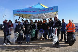 A successful beach clean has taken place in ingioldmells. ANL-180211-180300001
