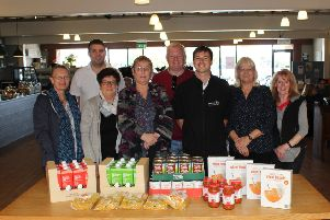 Di Gallagher, Gareth Laking, Jill Harlock, Debby Harland, Peter Davies, Josh Dellow, Janine Davies and Jenni Blankley enjoy the walks, knowing they are helping the Storehouse Foodbank.
