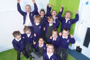 Children celebrating at Skegness Infant Academy.