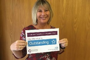Anne-Maria Newham, Interim Chief Executive of Lincolnshire Partnership Foundation Trust celebrates being rated outstanding by the CQC for leadership. EMN-190115-163131001